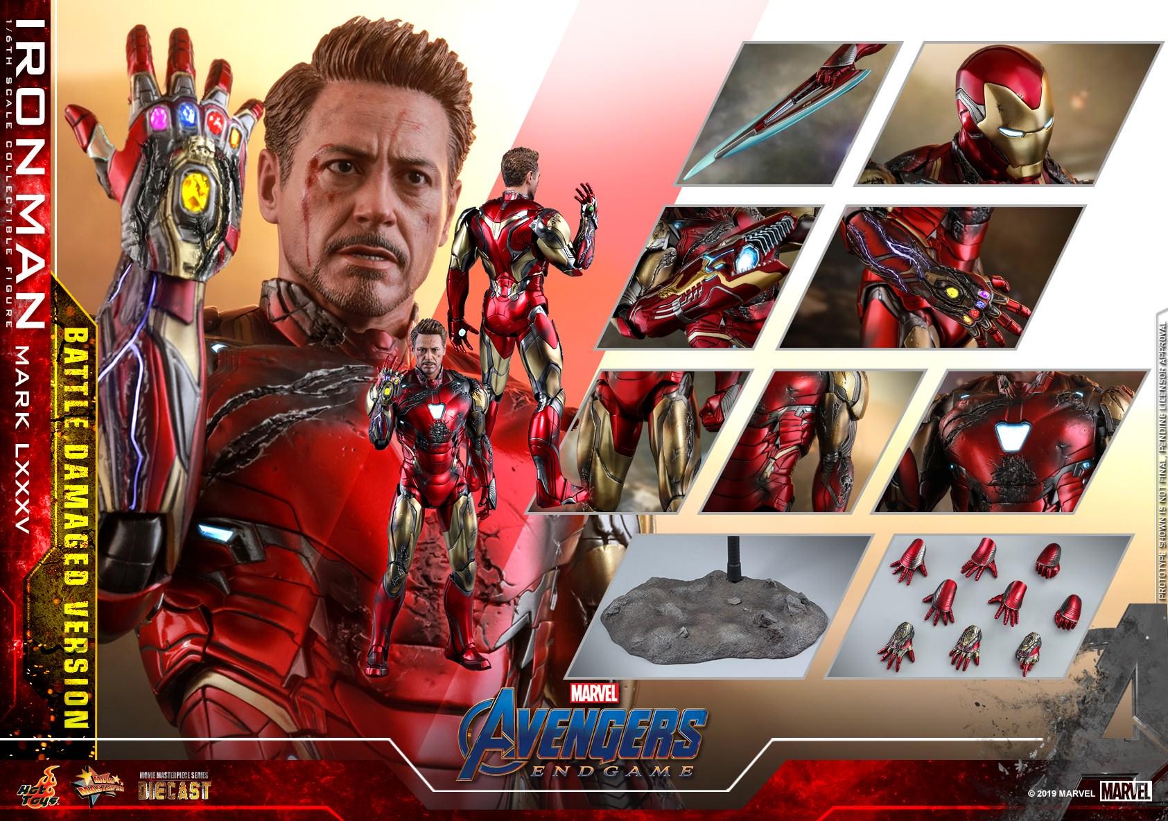 Hot Toys MMS 543 D33 Avengers : Endgame – Iron Man Mark LXXXV (Battle Damaged)