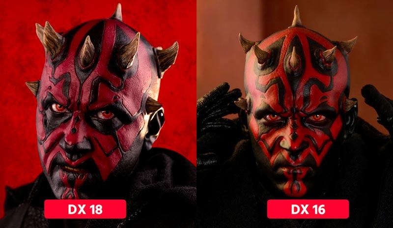 Srovnání head sculptů DX 18 a DX 16