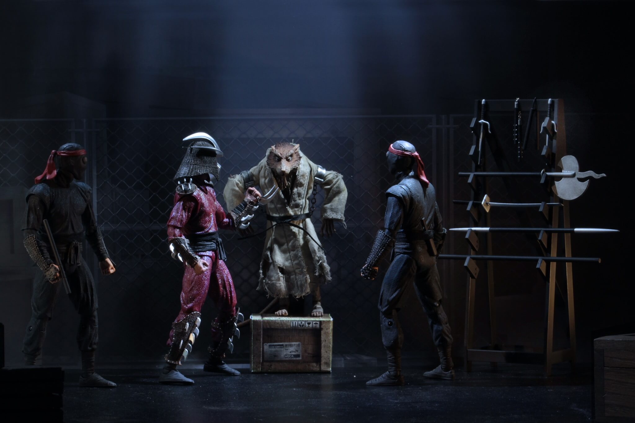 NECA TMNT 1990 The Capture of Splinter Action Figure SDCC 2019