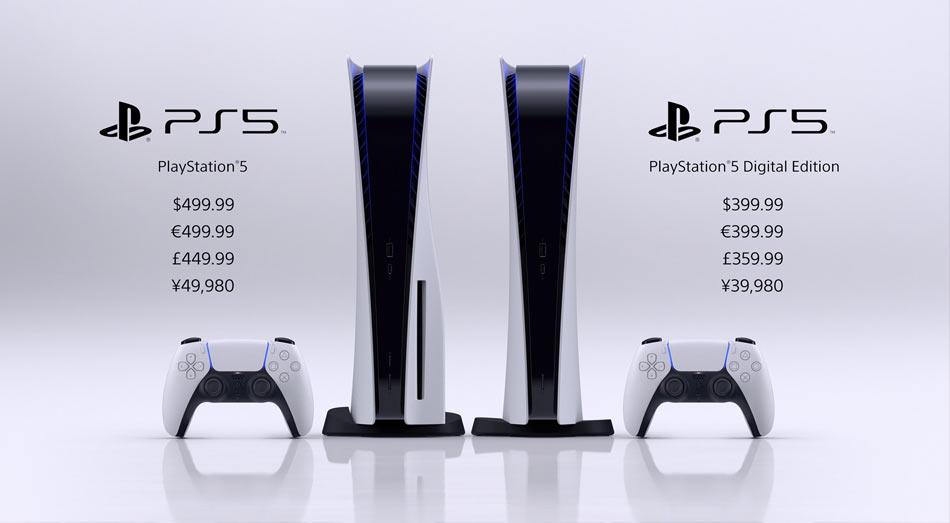 Sony oznámilo ceny a datum vydání PlayStation 5